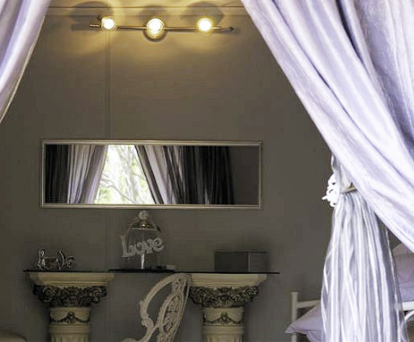 bridal suite with curtains